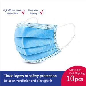 10pcs - 3 layers Face mask